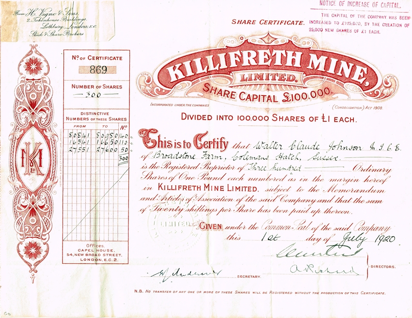 Killifreth Mine