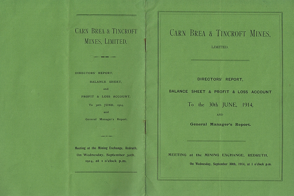 Cornish Mining Documents